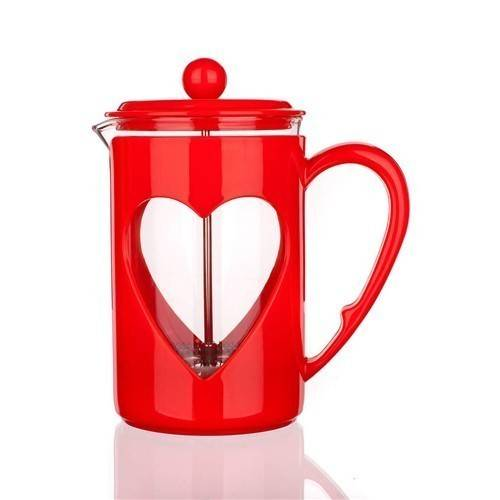 French press DARBY 800ml červený